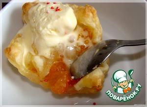 В горячих тарталетках мороженое подтаивает, пропитывает и охлаждает фрукты...   Блаженство!...