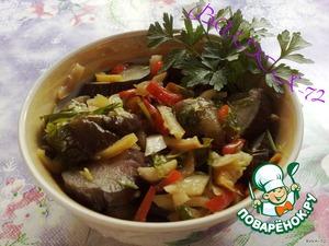 Баклажаны с перцем и чесноком маринованые по-быстрому – кулинарный рецепт