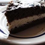 Шоколадный бисквит с простым кремом