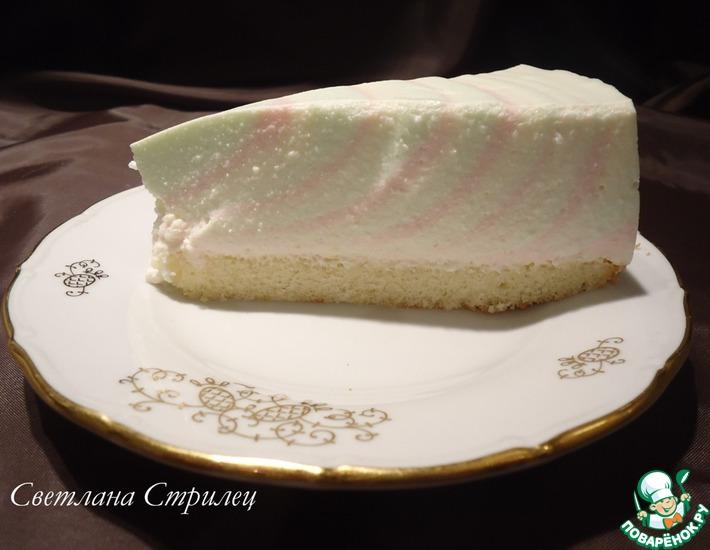 Рецепт: Творожный торт-желе Радужное настроение