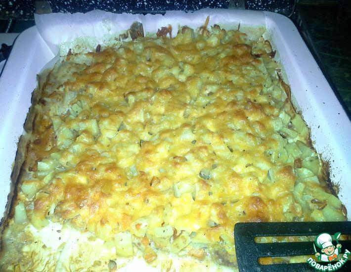 Рецепт: Говядина, запеченная с овощами и картофелем