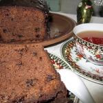 Рождественский кекс с черносливом и миндалем