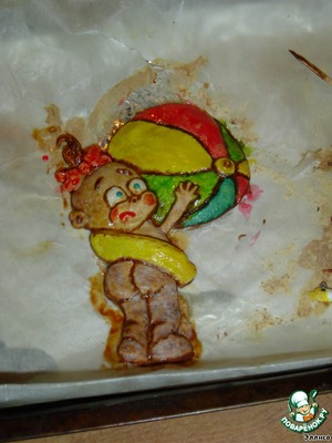 """Now begin to paint it using """"paint"""" made from icing (egg white + icing sugar) with the addition of food coloring. The painted girl is sent again in the oven for 10 min."""
