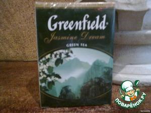 Зеленый чай с ароматом жасмина прекрасно для этого подходит. Но Вы можете взять любой другой - ромашковый, например. Главное - он должен быть листовым!