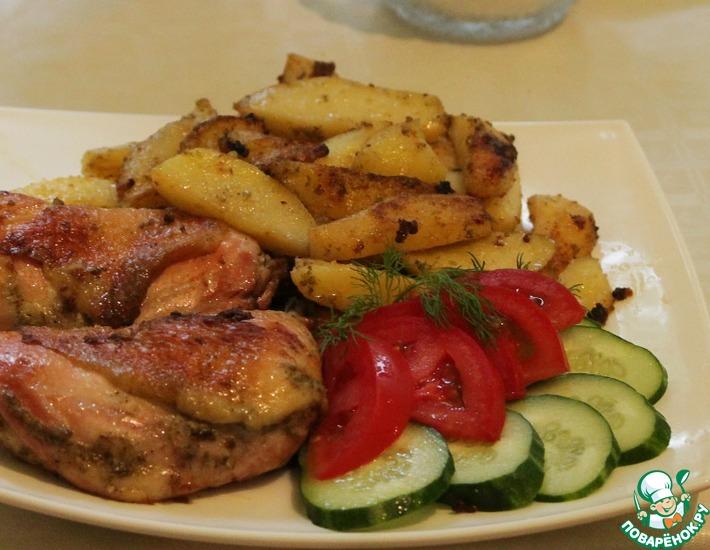 Рецепт: Курица и картошка с чабрецом