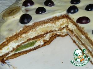 Творожно-фруктовый тортик – кулинарный рецепт