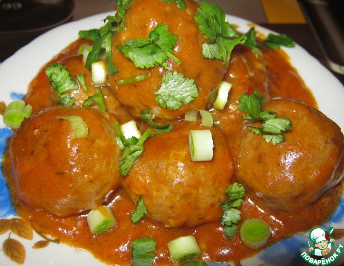 Рецепт: Фрикадельки в томатном соусе