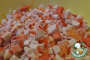"""Салат """"Настроение"""" с крабовыми палочками – кулинарный рецепт"""