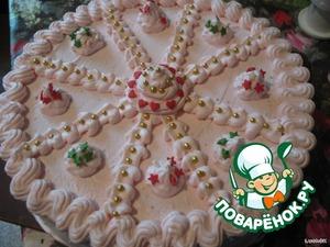 а также разноцветную кондитерскую посыпку.      Согласитесь, что проще сделать торт невозможно!