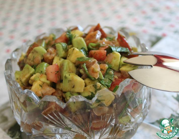 Рецепт: Салат из авокадо и семги