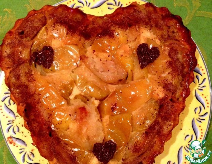 """Яблочный пирог-перевертыш """"Лето"""" – кулинарный рецепт"""