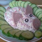 Салат Счастливая свинка