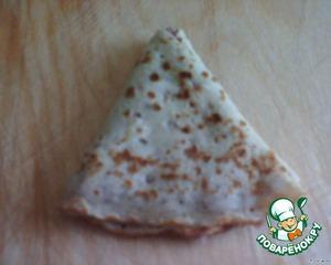 Получается вот такой треугольный конвертик.