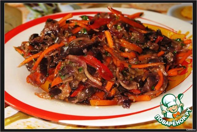 жареные баклажаны с мясом по-корейски