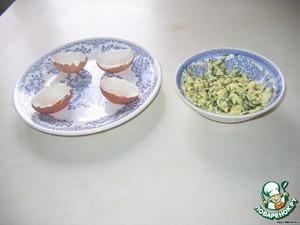 """Фаршированные яйца """"Сытный завтрак"""" – кулинарный рецепт"""