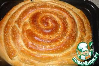 Рецепт: Пирог-улитка 3 начинки