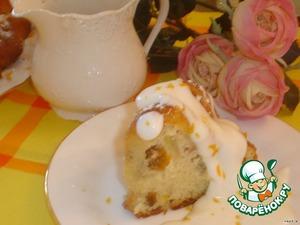 Посыпем сахарной пудрой. Заварим чай.   И подадим нашу сдобную, вкусную, слегка опьяняющую яблочно-ромовую бабу.