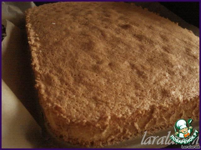 Бисквитный тортик по-немецки (с вишнями)