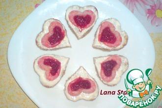 Рецепт: Мини-бутерброды Сердечки