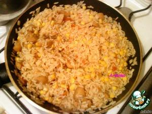 Рис с грибами – кулинарный рецепт