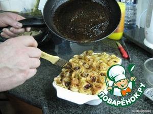 Кисточкой смазать розочки.   13. Поставить в духовку ниже середины, на 190 градусов, примерно на 50 минут, пока не будет готово тесто.