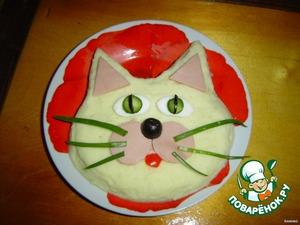 Вот мы и получили замечательного котика.   Как Вы думаете, хорошо будет кушать Ваш ребенок такое пюре?