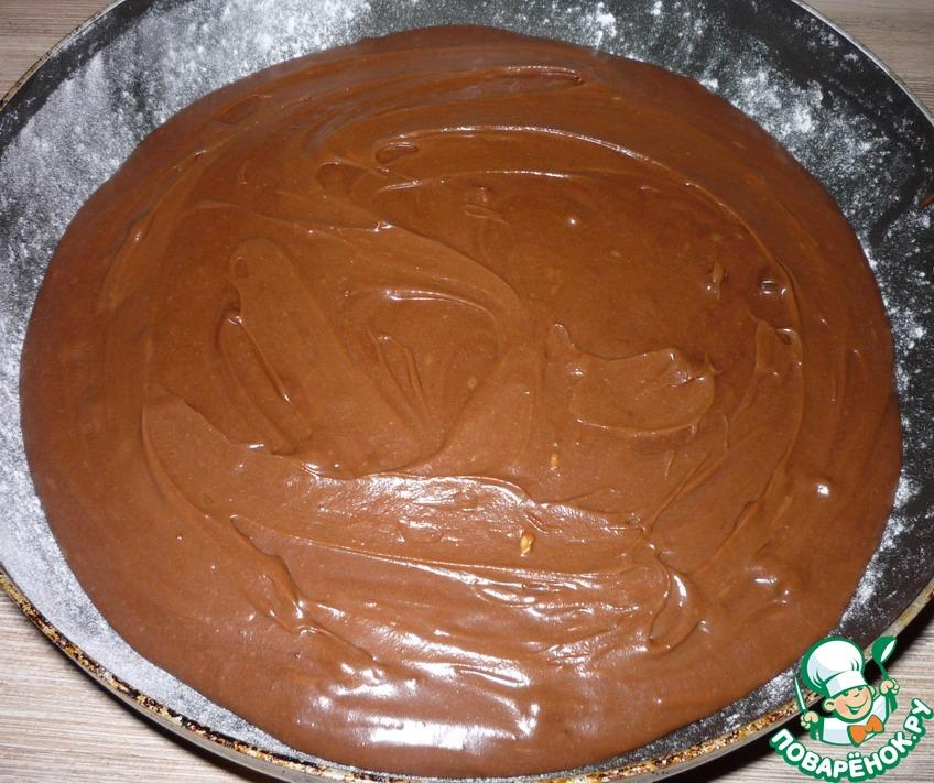 Шоколадные брауни с карамелью