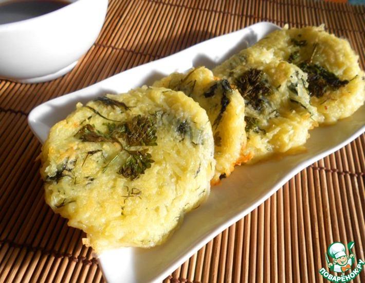 Рецепт: Картофельные мини-блинчики