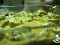 Картофельная запенка с морепродуктами под грибным соусом ингредиенты