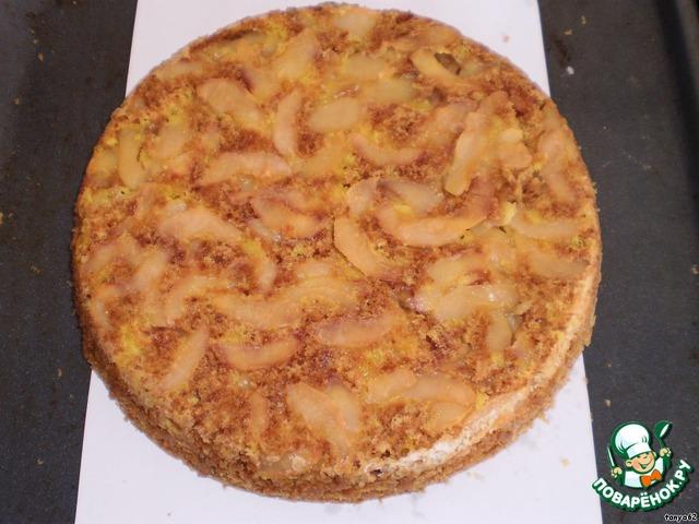 бисквитный яблочный пирог рецепт с фото