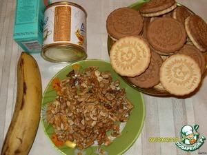 """Пирожное """"Картошка"""" с орехами и бананом – кулинарный рецепт"""