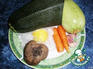 Все овощи тщательно вымыть.
