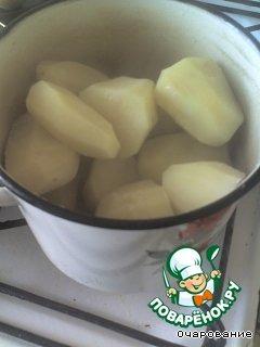 Картофель отварить