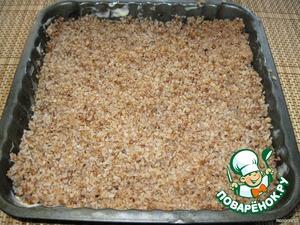 Put a layer of buckwheat