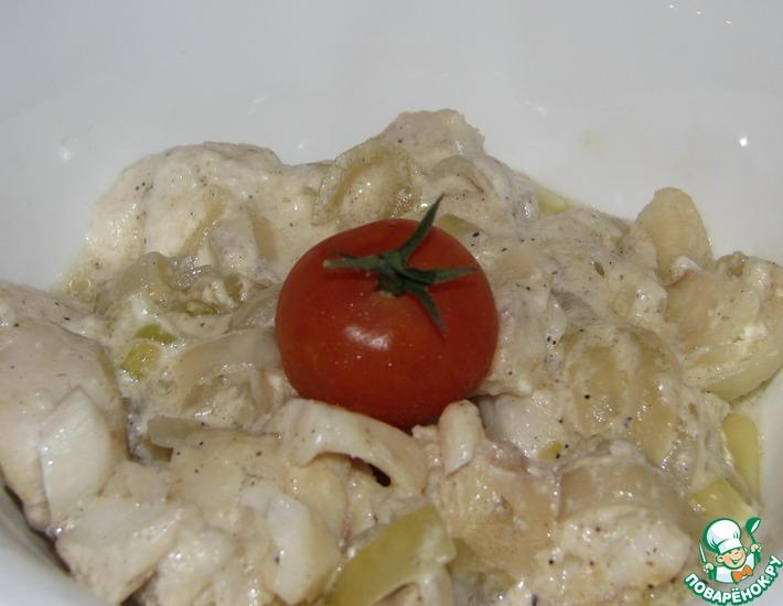 Рецепт: Рыба в сливочном соусе