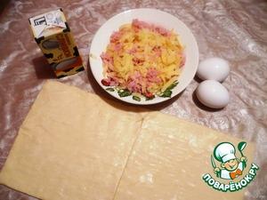 Пирог с ветчиной и сыром – кулинарный рецепт