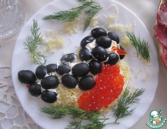 Рецепт: Салат Снегирь