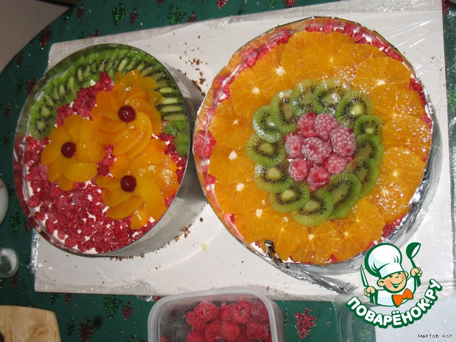 """Творожный десерт """"Цвета радуги"""""""