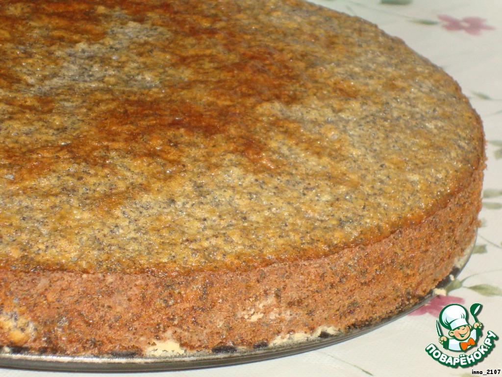 Торт    Маковый с кокосом