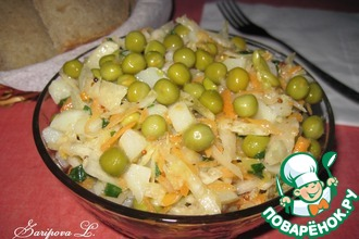 Рецепт: Картофельный салат с квашеной капустой