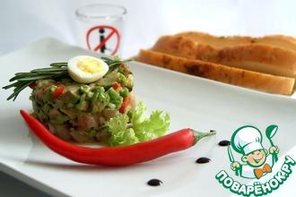 Рецепт: Тартар из сельди с авокадо и чили