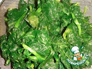 Spinach to defrost and squeeze well.