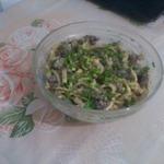 Печеночный салат с яичными блинами
