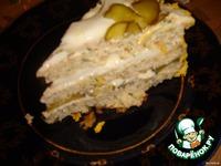 Закусочный тортик из курицы с сыром ингредиенты