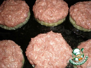 They pack molded patties from minced meat, bread, salt and spices.