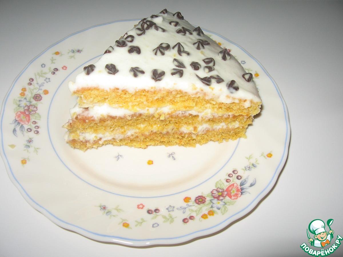 Морковно-лимонный торт