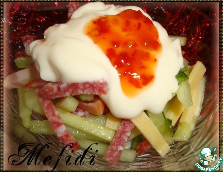 Рецепт: Праздничный салат вместо нарезки
