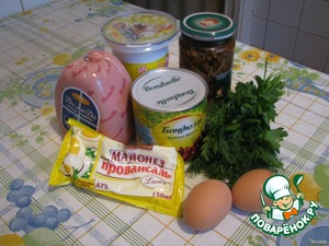 Вот такие ингредиенты.    По желанию фасоль можно заменить вареной.    В идеале в салат нужно покрошить кинзу, но если ее нет под рукой, подойдет любая любимая Вами зелень.