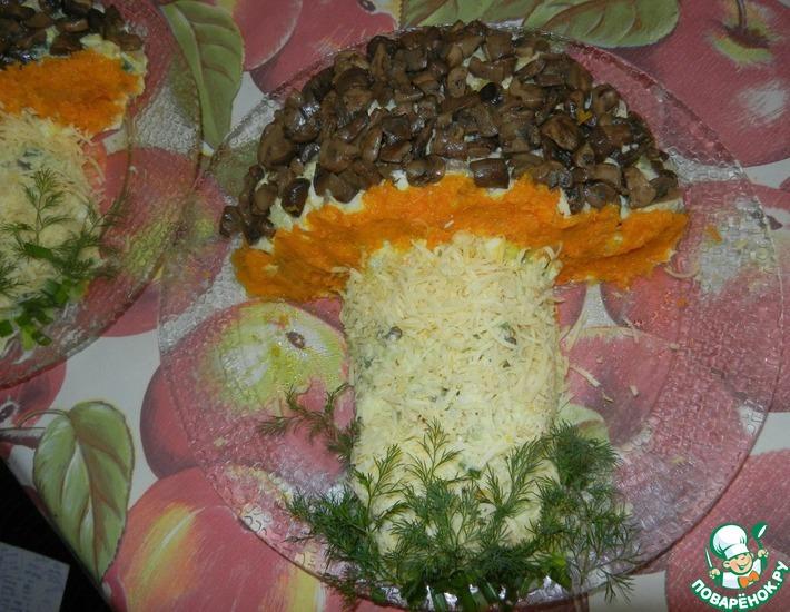 Рецепт: Салат Под дубком