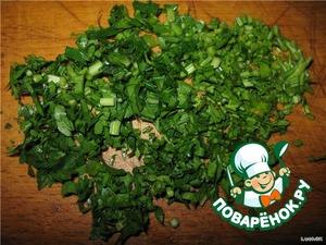 Greens chopped
